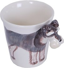 Dogs Schnauzer Dog Animal 3D Ceramic Coffee Cup