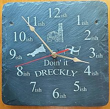 Doin' it Dreckly slate etched clock Etched in
