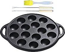 DOITOOL 1 Set Takoyaki Grill Pan 15 Holes Non