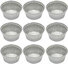 DOITOOL- 20pcs 285 ML Round Tin Foil Bowl Grill