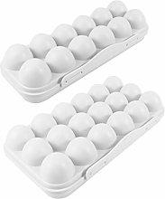 DOITOOL 2PCS Plastic Egg Holder for Refrigerator