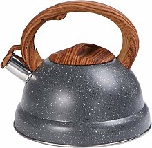 DOITOOL 3L Stovetop Whistling Tea Kettle with Wood