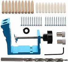 DOITOOL 46Pcs Pocket Hole Jig Kit Dowel Drill