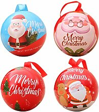 DOITOOL 4pcs Christmas Cookie Box Iron Candy Jar