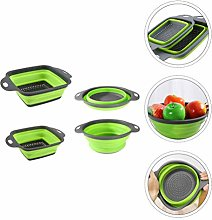 DOITOOL 4pcs Collapsible Colander Set Silicone