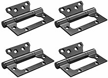 DOITOOL 4PCS Non-Mortise Door Hinges Stainless