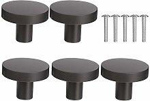 DOITOOL 5Pcs Kitchen Drawer Knobs Round Cabinet