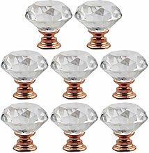 DOITOOL 8PCS Diamond Shaped Crystal Cabinet Knobs