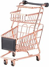 Doitool Basket Mini Two-tier Shopping Cart