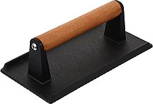 DOITOOL Cast Iron Grill Press with Wood Handle