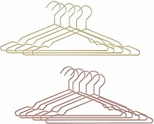 DOITOOL Clothers Hangers 10Pcs Iron Art Hangers