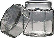 Doitool Glass Storage Canister Jars with Lid Glass