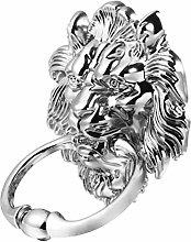 DOITOOL Lion Head Door Knocker Ring Pulls Handles