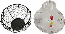 Doitool Metal Wire Egg Basket Egg Holder Organizer