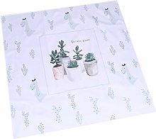DOITOOL Succulent Pattern Tablecloth Polyester
