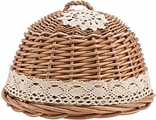 DOITOOL Wicker Food Cover Dome Mesh Round Food