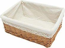 DOITOOL Wicker Storage Basket with Cloth Liner