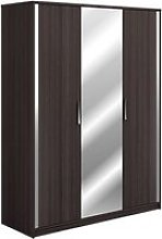 Dolce Mirrored Wardrobe In Vulcano Oak With 3 Doors