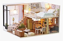 Doll House Miniature DIY Kit Dolls Toy House With