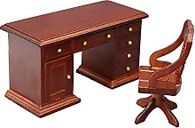 Dollhouse Writing Desk, 1/12 Scale Dollhouse Retro