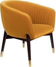 Dolly Lounge armchair ochre
