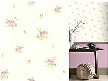 Dolly Mixtures Chintz Rose Pink Wallpaper 268040