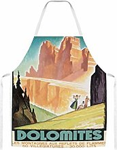 Dolomites Italy Home Kitchen Cooking Grill Aprons