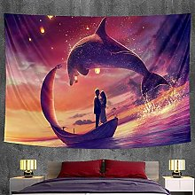 Dolphin animal bedroom home decoration tapestry