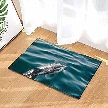 Dolphin. Door Mat Front Door Carpet Non-Slip Door