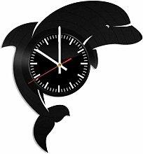 Dolphin Vinyl Wall Clock Vinyl Record Clock Wall