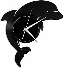Dolphin vinyl wall clock, vinyl record home
