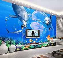 Dolphin Wallpaper DIY Living Room Bedroom 3D Mural