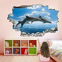 Dolphins Sea 3D Wall Art Sticker Mural Decal
