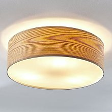 Dominic wooden ceiling light with a round shape