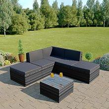 Dominique 6 Seater Rattan Corner Sofa Set Sol 72