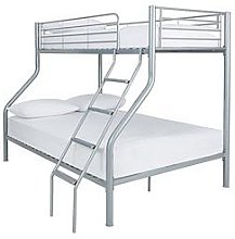 Domino Metal Trio Bunk Bed  - Bed Frame With 2