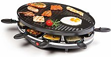 Domo DO9038G Raclette Grill, 1200 W, Black
