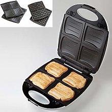 Domo DO9046C Waffle Maker, 1200 W, White
