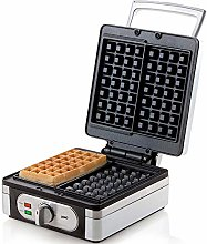 Domo DO9047W Waffle Maker, Stainless steel, 1400