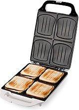 Domo DO9064C Sandwich Maker, 1800 W, White