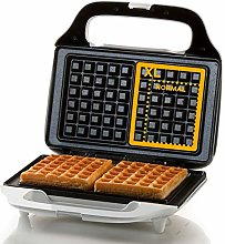 Domo DO9133W Waffle Maker, Stainless Steel, 900 W