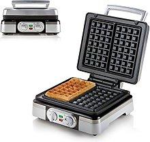 Domo DO9149W Waffle Maker, Steel, 1400 W