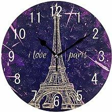 Domoko Home Decor Abstract Purple Eiffel Tower