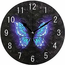 Domoko Home Decor Purple Butterfly Abstract Round
