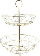 Donalson Fruit Basket Mercury Row Colour: Gold