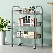 Dongfans 3 Tier Mesh Wire Rolling Cart, Kitchen