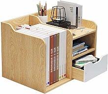 DONGTAISHANGCHENG Bookcase Desktop Bookshelf