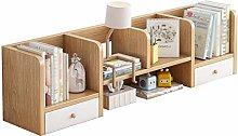DONGTAISHANGCHENG Bookcase Double Drawer Desktop