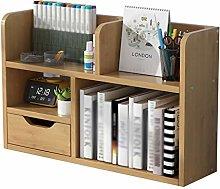 DONGTAISHANGCHENG Bookcase Natural Bamboo Ware