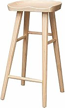 Dongy Wooden Barstools Chair with Footrest